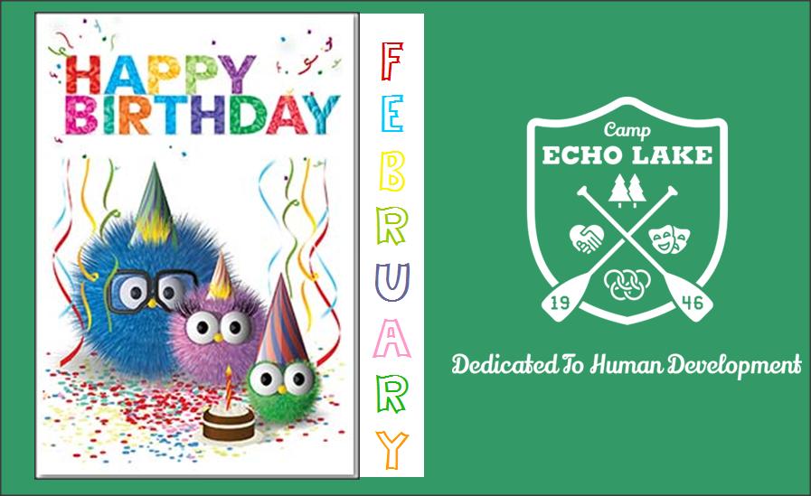 Camp Echo Lake February Birthdays