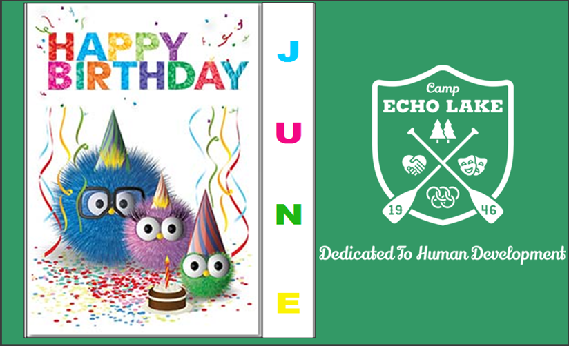 Camp Echo Lake June Birthdays